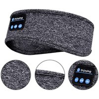 Bluetooth dormindo fones de ouvido fone de cabelo esportes headband fino macio elástico confortável música sem fio fones de ouvido olho máscara para dorminhoco lateral