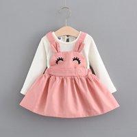 Дешевые модные малыши девушки одежда весной дизайнер новорожденных младенца милые платья для маленьких девочек одежда на наряжете 509 y2