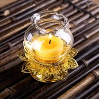 Candle Holders Zen Decoration Table Centerpieces Moroccan Decor Glass Holder Crystal Luxury Nordic Style Centro De Mesa Home