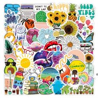 water bottle stickers Animal plant waterproof removable suitcase notebook mobile phone cup sticker HWF7091