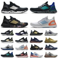 Adidas UltraBoost 20 Ultra Boost shoes Baskets réfractant des formateurs noirs métalliques Chaussures Gold 6.0 Oreo Light Chaussures UB Pixel Mens Femmes Rouge