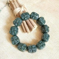 Xinjiang hotan jade beadle beaded luck bracelet with free ship ping Z10