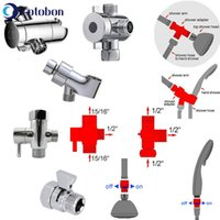 Bathroom Tee Socket Diverter Faucet Overhead Shower Arm Boom Adapter Accessories F385 Bath Accessory Set