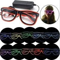 10 couleurs clignotant el fil LED lunettes lumineuses lumière décorative éclairage classique cadeau lumineux festival C045