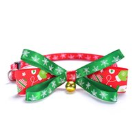 Bowknot Bell Christmas Series Pets Collars Cat Collar Dog Pet Products plus sizeDH8570