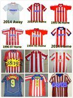 Atlético Madrid 1994 1995 1996 1997 2003 2004 2004 Retro Jerseys de futebol 10 11 13 14 15 18 19 F.Torres Vintage Camiseta de Futbol Comemorar camisa de futebol