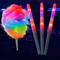 New Colorful LED Light Stick Flash Glow Cotton Candy Wand Light up Cone For Vocal Concerts Night Parties Children Favorite Popular 1936 Y2