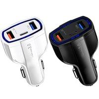 LED 타입 C PD USB-C 자동차 USB 충전기 빠른 요금 3.0 유니버설 7A 빠른 충전 휴대 전화 요금 iPhone 11 12 13 Pro Max Samsung Android Phone GPS PC