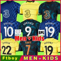 CFC Soccer Jersey Lukaku Pulisic Ziyech Havertz Kante Werner Abraham Chilwell Mount Jorginho 2021 2022 قميص Giroud Football 21 22 Home Trid Rousth Men + Kids Kit