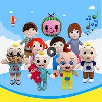 JJ Cocomelon 장난감 뮤지컬 베이비 음악을위한 부드러운 봉제 인형 Barbie Doll 가족 키즈 장난감 생일 선물 애니메이션 플러시