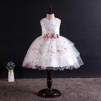 Sommer Prinzessin Kleinkind Kinder Tutu Kleid Hochzeit Geburtstag Party Kleider Für Mädchen Blumen Kostüme Weißes süßes Kleid