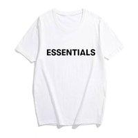 Herren Designer T-Shirt 2020 Neue Ankunft Männer Essentials Brief Druck Basis T-shirt Oansatz Baumwolle Mode Straße Stil T-Shirt Dhbomc191