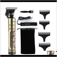Pflege-Styling-Tools ProductSt9 Friseur-Haarschnitt wiederaufladbarer Clipper schnurlose Männer Haarschneide-Hine Bartschneider 0mm Rasierer Rasierer 16-13 Tropfen