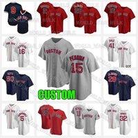 15 Dustin Pedroia Jersey Sox 28 JD Martinez Enrique Hernandez Boston Red 40 Marco 29 Bobby Dalbec Chris Venta Wade Boggs Custom 2021