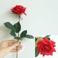 Hydrating Roses Artificial Flower DIY Rose Bride Bouquet Fake Flowers for Wedding Decoration Party Home Decors Valentine's Day EEB6100