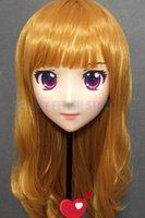 Festa máscaras (gl91961) doce menina resina meia cabeça feminina kigurumi crossdress cosplay japonês anime função lolita boneca máscara de boneca conjunto completo