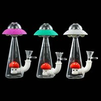 UFO Bong Water Pipes oil rig hookahs silicone smoking hand pipe Free Glass Bowl