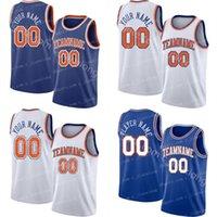 남성 맞춤 뉴욕 농구 유니폼 당신의 저지 스포츠 셔츠를 만드는 팀 이름과 숫자 스티치