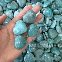 Toptan 5 adet Mavi Amazonit Taş Kalp Kristal Kalp Takı Yapımı Amazonit Kalp Düğün Dönüş Hediye Kristal Şifa 619 S2