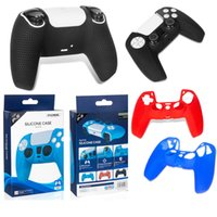 DOBE Silicone Cover Case For PS5 Handle Colorful Dustproof Sweat-Proof Protective Anti-Slip Sleeve For PlayStation GamePads Game Controller DHL
