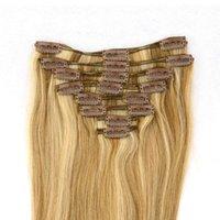 Human hair clip in hair hair extension