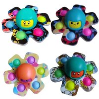 Fidget Toys Flip Face Changing Push Toy Bubble Silicone Key Chain Fingertip Gyro Decompression Creative Game Sensory Anxiety Stress Reliever