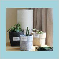 Töpfe liefert Patio Rasen Garten Filz saftig Pflanze Vliesstoff Kaktus Wachsen Pflanzgefäßtopf oder Home Aufbewahrungskorb Bags Faltfluß