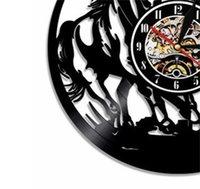 1 قطعة الخيول الصمام الإضاءة الحيوانات ساعة الحائط ركوب الخيل محفور الخلفية الحديثة ساعة هدية ل هزمان 1 685 v2