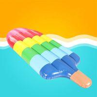 Надувные поплавки пробирки мороженое плавающее ряд легкий быстрый настроек портативный мягкий красочный эскимо кровать горы плавание кольцо бассейн пляж домой р