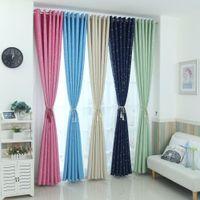 Modern stars blackout curtains kids bedroom curtain for living room Elegent Bule Drapes Cortinas para sala J0510