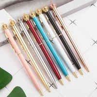 Ins stylo à bille en métal stylo créatif bling bling stylo noir encre noire retour à l'école fournitures stylo à billes