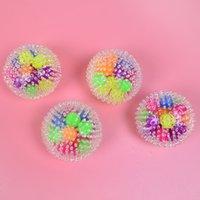 24 / adet duyusal parmak oyuncaklar 6 cm renk boncuk topu TPR kauçuk dekompresyon balon oyuncak yoğurma otizm anksiyete stres relieever 727 x2