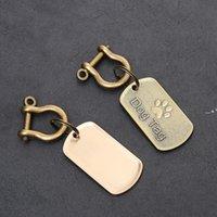 Mode Tag Dog Machine en acier inoxydable Animaux Anti Perd ID Card Metal Diy Pet Tags NHA7844