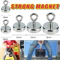 Hooks & Rails Super Strong Neodymium Magnet Pot Fishing Salvage Magnets Round Powerful Magnetic Hook Sea Searcher