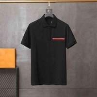 2020 mens polos classic fashion popular t shirts Lapel red rubber letters lettering embroidery Comfortable high-quality material tees