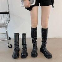 Boots Flat Platform Women's Rubber Shoes Rain Clogs Med PU Basic Hoof Heels P