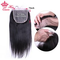 100% Unprocessed Virgin Human Transparent Lace size 7X7 Top Swiss Lace Closure Body Wave   Straight 16 18 20inch Queen Hair Products Natural Color