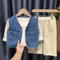 Vidmid Baby Waistcoat Spring Otoño desgaste de moda estilo extranjero niños niños Niñas Denim Chaleco Boys Coat P803