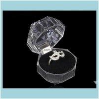 JewelryAcrylic Delicato Fashion per Bracciale Pendant Perline Orecchini Pins Pin Portabispero Display Box Scatole di gioielli e confezione Drop Consegna