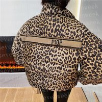 Leopard Pattern Down Parkas Coats Womens Jackets 디자이너 브랜드 숙녀 겉옷 겨울 유지 윈드 브레이커 자켓
