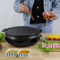 Gusseisen Holzkohle Barbecue Grill Tabelle BBQ Spieß Heizung Herd Grill Shop Inland Outdoor Commercial Teppanyaki 124-6