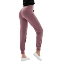 Designer lulu yoga legging women pants lu Capris leggings workout high waist gym Clothing align pocket two side running sport pant fashion quality Outdoor wear