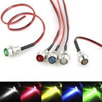5mm 12 V DC Ultra-Parlak LED Gösterge Işık Prewired Lamba Ampul Çerçeve Tutucu Ile Set Motosiklet Motosiklet için 5 adet