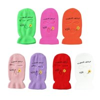 Beanies HXBA Multi Color Letter Face Mask Balaclava Full Cover Gift For Halloween Xmas