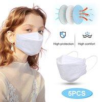 10 20pcs Pink Protection Masks For Women Men Solid Color 3d Breathable Masks 4-layer Filter Mask Party Decoration Mascarillas