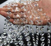 Kristal Prizma Boncuk Süs Düğün Yol Kurşun Akrilik Kristal Sekizgen Boncuk Perde Avrupa DIY Zanaat Düğün Parti Dekorasyon 10 m / grup