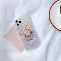 Casi del telefono morbido esagono foglia oro glitter bling TPU per iPhone 12 11 Pro Promax X XS max 7 8 Plus custodia