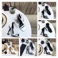 2021 Luxus Designer Frauen Schuhe Opyum Schuhleder High Heels Metall Ferse Einstellbare Knöchelgurte Mode Top Qualität mit Box Größe 35-40
