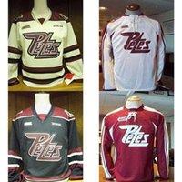 2016-2017 Neueste Anpassen OHL Peterborough Petes Jersey Herren Womens Kids Personalisierte Nähte Jeder Name Neiner Hockey-Trikots Goodit Cut