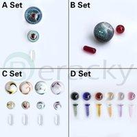 4 estilos Acessórios para fumar Conjuntos incluindo 10mm Ruby Pérolas / Comprimidos 14mm 20mm 22mmod de vidro parafusos parafusos para terp slurper quartzo banger unhas plataformas